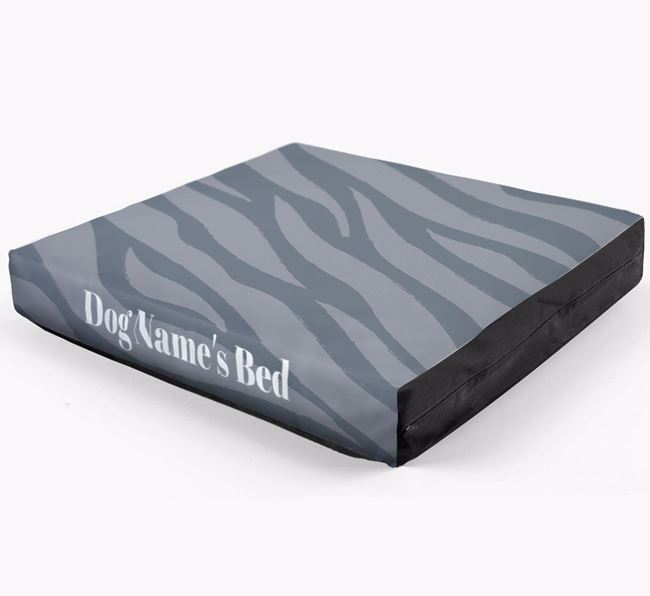 Personalised 'Zebra Print' Dog Bed for your Bichon Frise