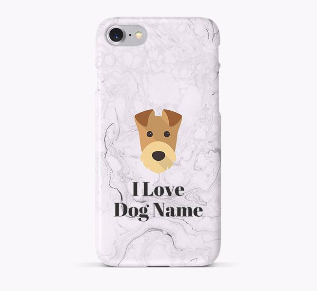 'I Love ' Phone Case with Airedale Terrier Icon