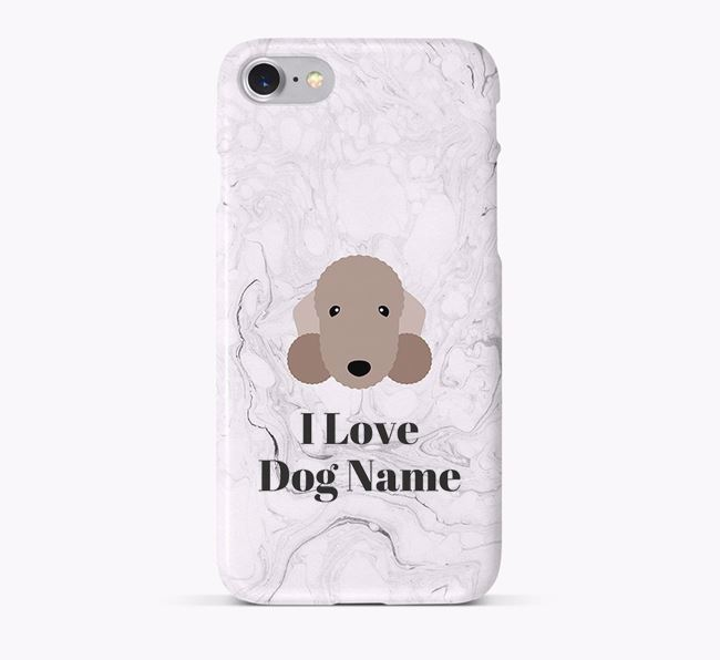 'I Love ' Phone Case with Bedlington Terrier Icon