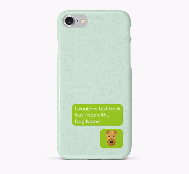 'Text Back' Phone Case with Airedale Terrier Icon