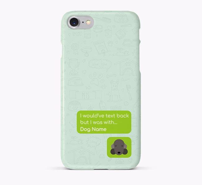 'Text Back' Phone Case with Bedlington Terrier Icon