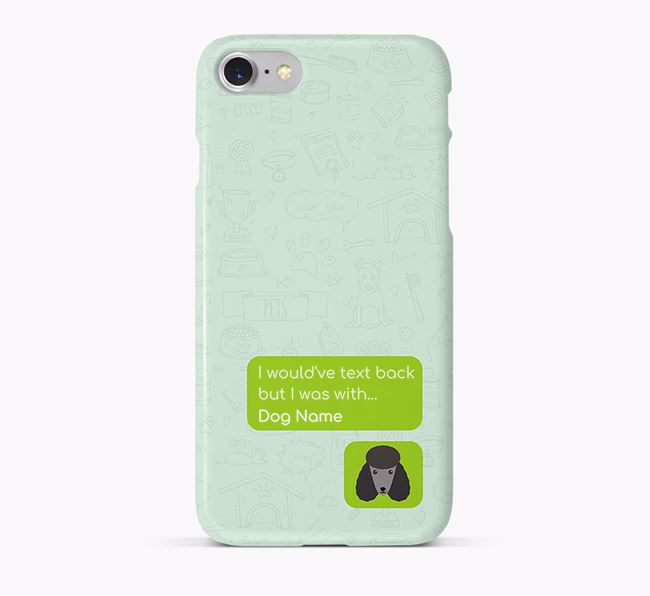 'Text Back' Phone Case with Poodle Icon