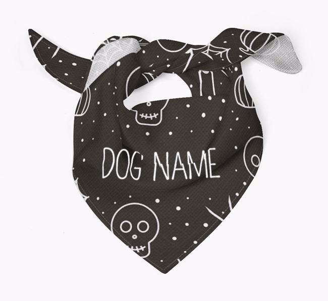 Personalised 'Spiders and Skulls' Bandana for your Bichon Frise