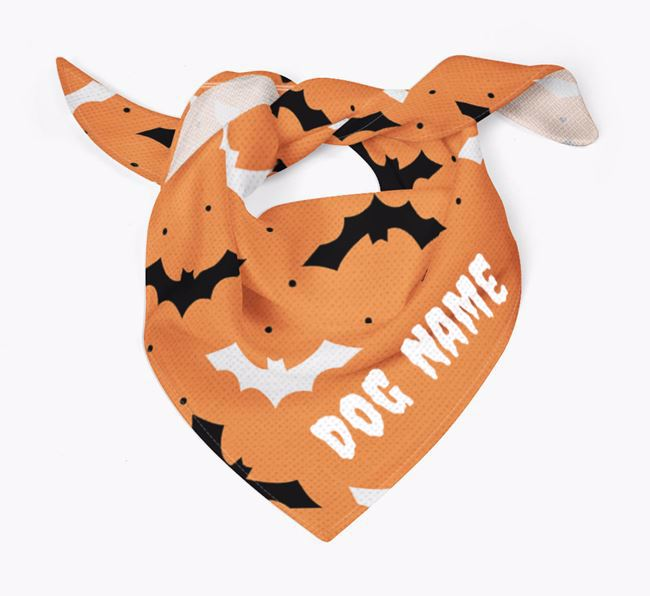 Personalised Bat Design Bandana for your Airedale Terrier