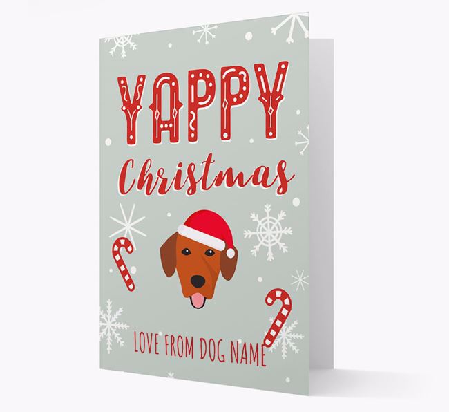 Personalised 'Yappy Christmas' Card with Springador Christmas Icon