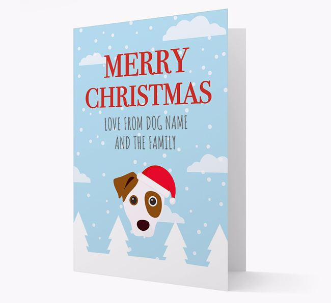 'Love from the Family' Christmas Card with your Dog Christmas Icon
