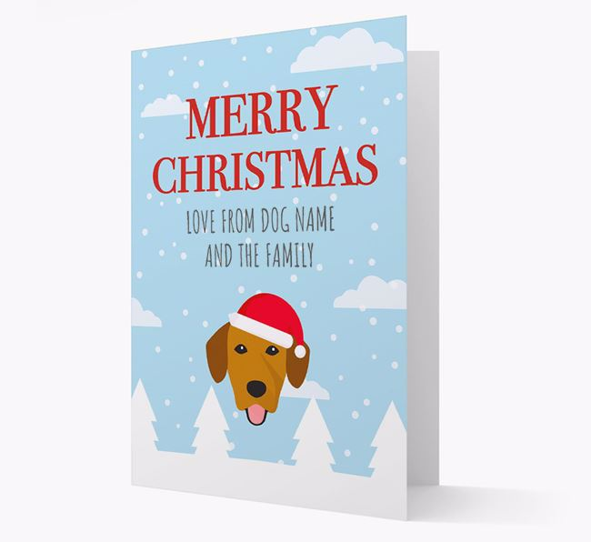 'Love from the Family' Christmas Card with your Springador Christmas Icon