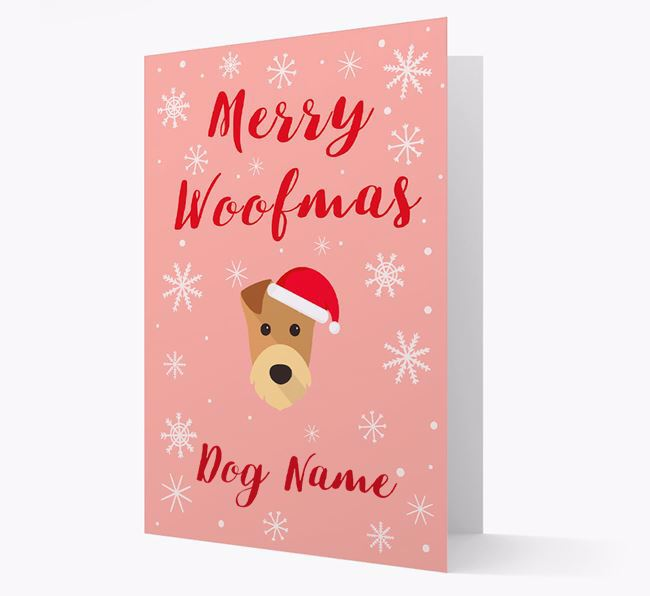 'Merry Woofmas ' Card with your Airedale Terrier Christmas Icon