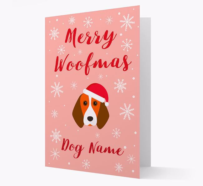 'Merry Woofmas ' Card with your Beagle Christmas Icon
