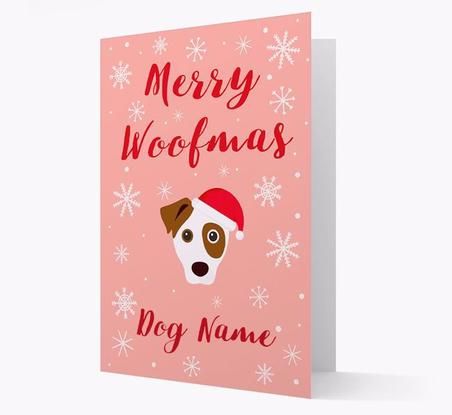 'Merry Woofmas Your Dog' Card with your Dog Christmas Icon