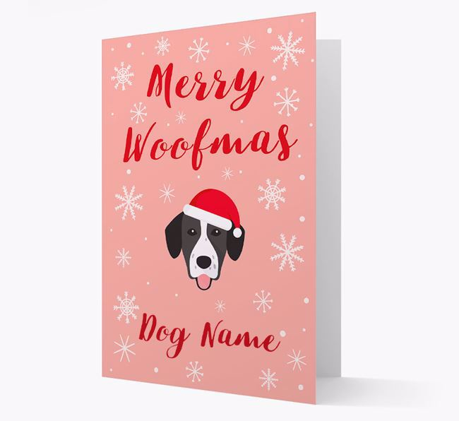'Merry Woofmas ' Card with your Springador Christmas Icon