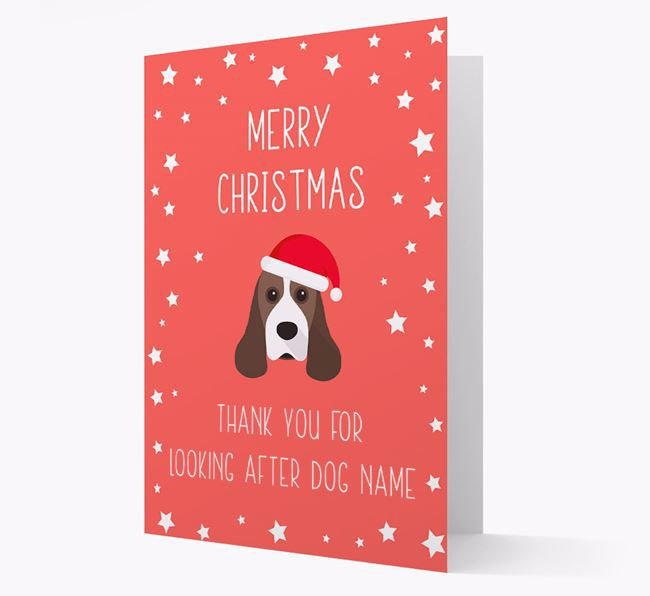 'Thank You' Christmas Card with your American Cocker Spaniel Christmas Icon