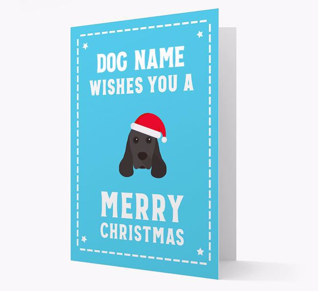 'Christmas Wishes' Card with your American Cocker Spaniel Christmas Icon