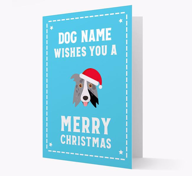 'Christmas Wishes' Card with your Border Collie Christmas Icon