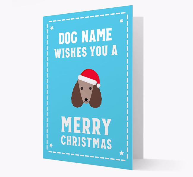 'Christmas Wishes' Card with your Poodle Christmas Icon
