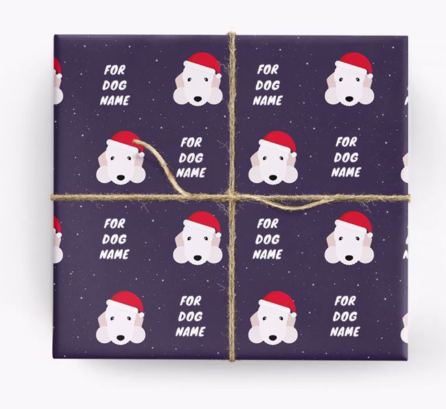 Christmas Wrapping Paper for your Bedlington Terrier