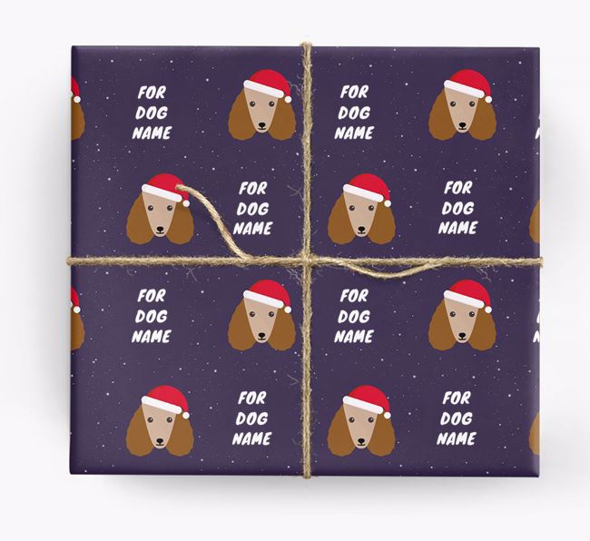 Christmas Wrapping Paper for your Poodle