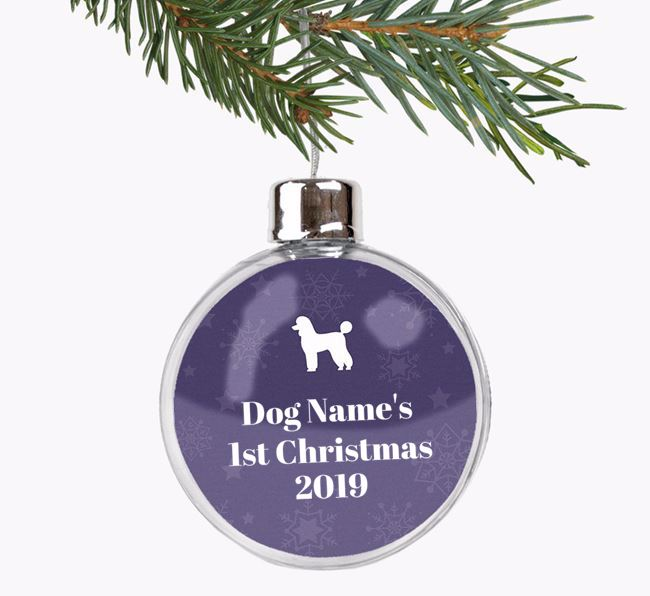 Personalised '1st Christmas' Fillable Bauble with your Poodle Silhouette