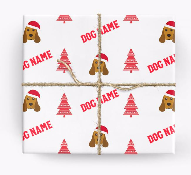Personalised Christmas Wrapping Paper with your American Cocker Spaniel Icon