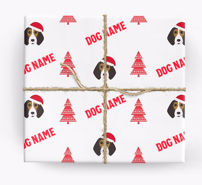 Personalised Christmas Wrapping Paper with your Beagle Icon
