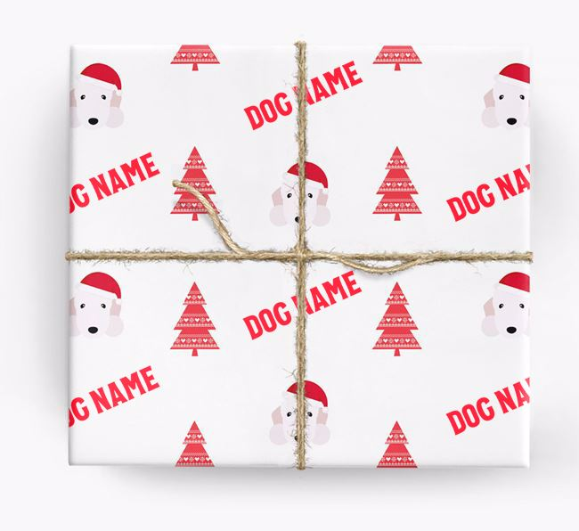 Personalised Christmas Wrapping Paper with your Bedlington Terrier Icon