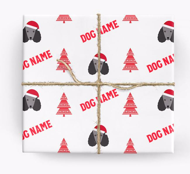 Personalised Christmas Wrapping Paper with your Poodle Icon