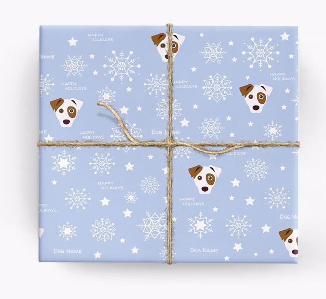 Personalized 'Happy Holidays' Christmas Wrapping Paper with your Dog icon