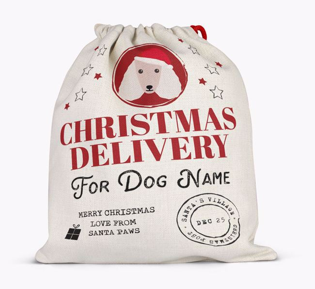 Personalised 'Christmas Delivery for ' Santa Sack