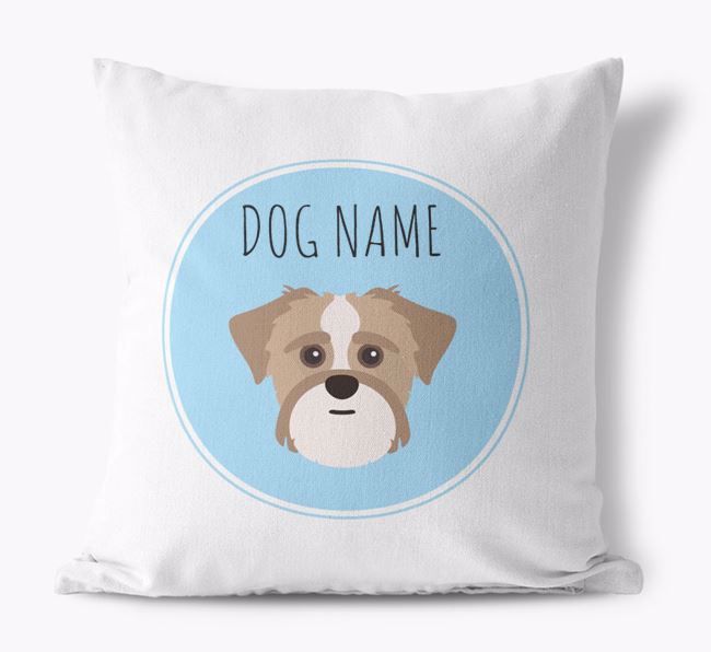 Shorkie Personalized Canvas Pillow