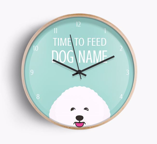 'Time To Feed ' Beech Wall Clock