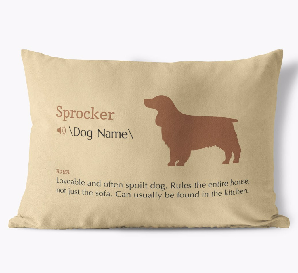Sprocker Definition Faux Suede pillow in {colour} front view