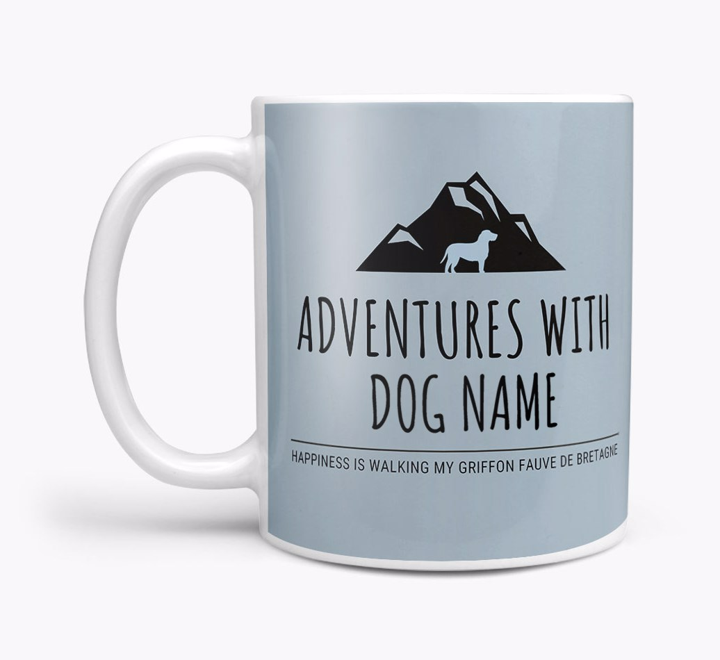 'Adventures with {dogsName}' Mug Side View