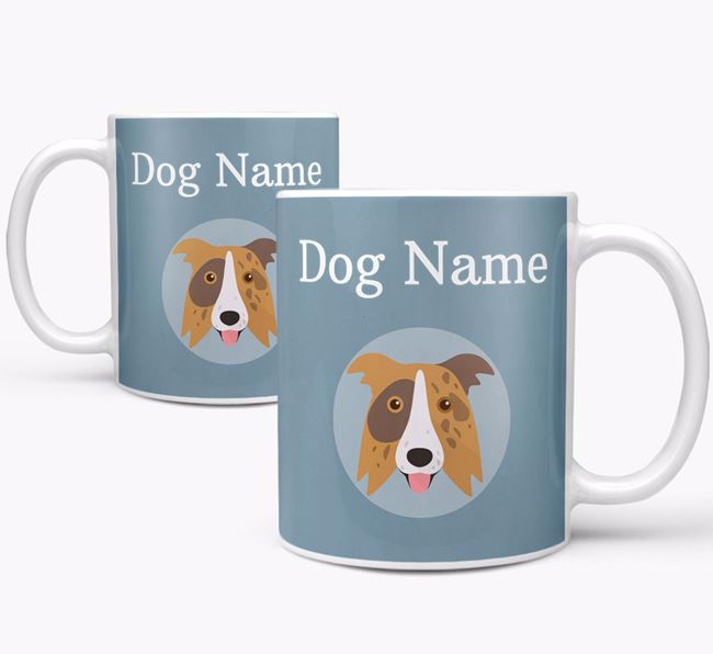 Personalised Border Collie Mug