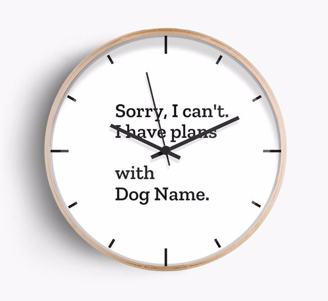 'Sorry, I can't. I have plans with ' Beech Wall Clock