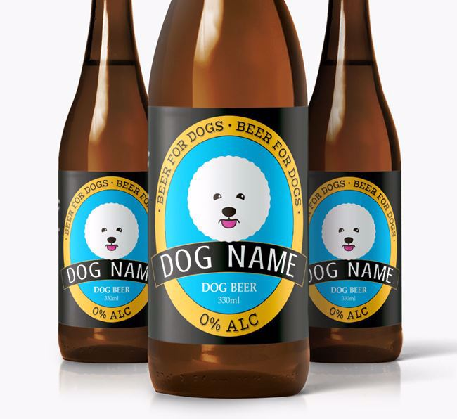 Personalised Bichon Frise Beer For
