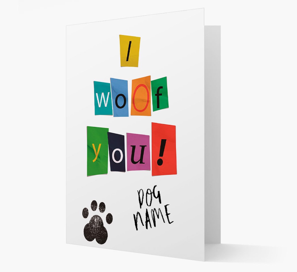 'I woof you!' Ransom Note with Fox Terrier Icon