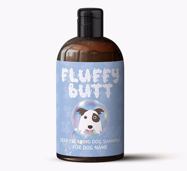Personalised 'Fluffy Butt' Dog Shampoo for