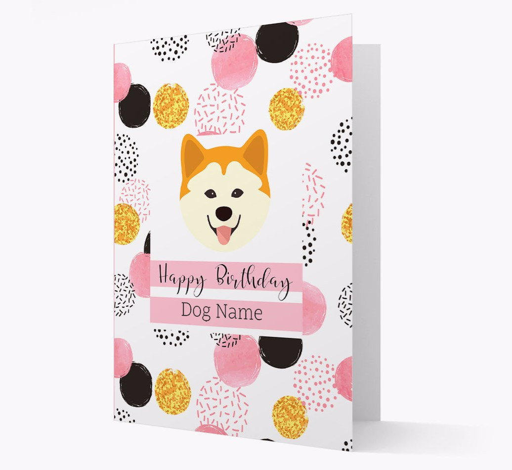 Birthday Card 'Happy Birthday {dogsName}' with Chusky Yappicon