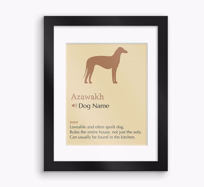 Personalised 'Definition' Framed Print