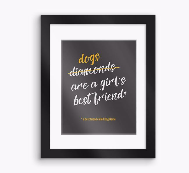 Personalised 'Best Friend' Framed Print