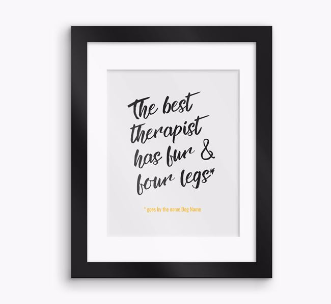 Personalised 'Best Therapist' Framed Print