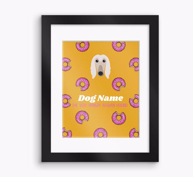 Personalised ' the very hungry Afghan Hound' Framed Print