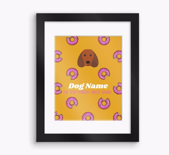 Personalised ' the very hungry Water Spaniel' Framed Print