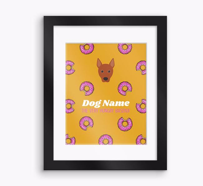 Personalised ' the very hungry Basenji' Framed Print
