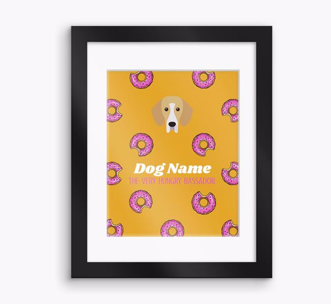 Personalised ' the very hungry Bassador' Framed Print