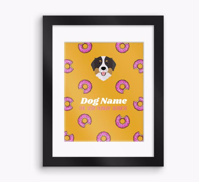 Personalised ' the very hungry Bernese' Framed Print