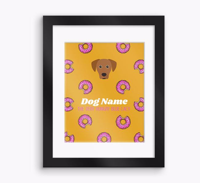 Personalised ' the very hungry Blue Lacy' Framed Print