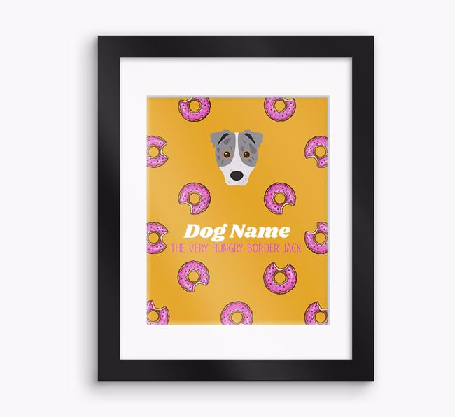 Personalised ' the very hungry Border Jack' Framed Print