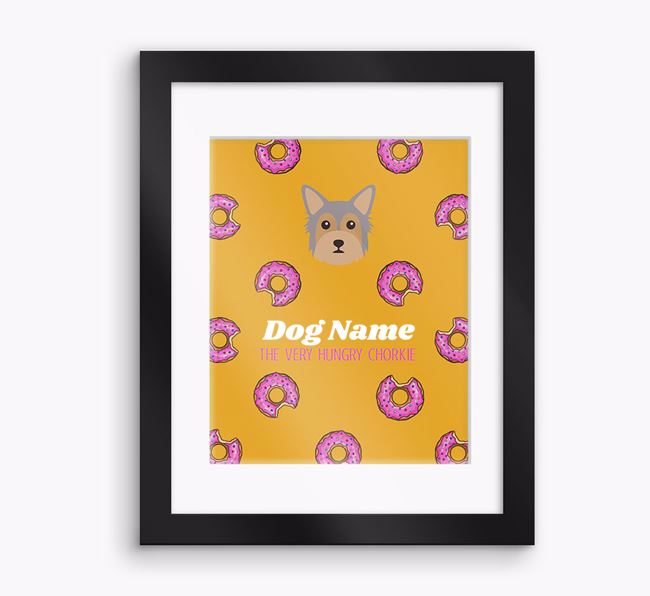 Personalised ' the very hungry Chorkie' Framed Print