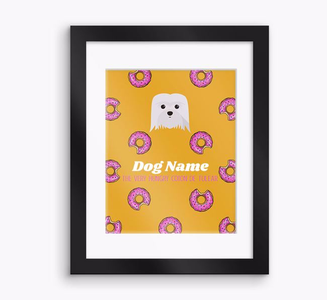 Personalised ' the very hungry Coton De Tulear' Framed Print